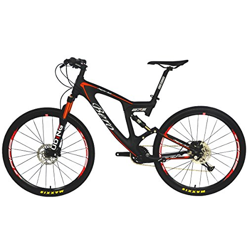 BEIOU-Carbon-Dual-Suspension-Mountain-Bicycles-All-Terrain-275-Inch-MTB-650B-Bike-SHIMANO-Breaking-LTWOO-11-Speed-127kg-T700-Frame-Matte-3K-CB22-0