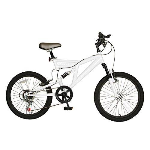 Cycle-Force-Dual-Suspension-Mountain-Bike-20-inch-Wheels-15-inch-Frame-Mens-Bike-White-0