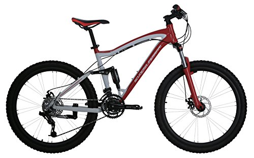 Ferrari-Alloy-MTB-Series-24-Speed-Linkage-Dual-Suspension-Mountain-Bicycle-Bike-RedWhite-0