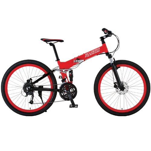 Ferrari-RED-Bicycle-AL-FDB2627-W-sus-26-inches-Disk-Brake-Shimano-27-Speed-0