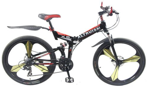 Hot-Sales-Altruism-Xirui-X6-Steel-Mountain-Bike-24-Speed-26-Inch-Folding-Bicycle-Black-0