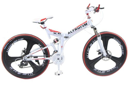 Hot-Sales-Altruism-Xirui-X6-Steel-Mountain-Bike-24-Speed-26-Inch-Folding-Bicycle-White-0