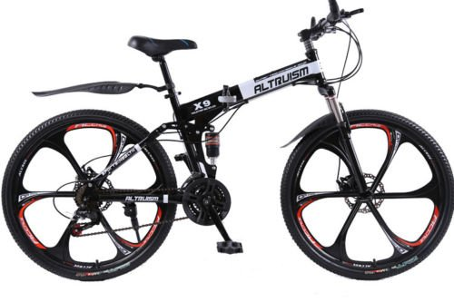 Hot-Sales-Altruism-Xirui-X9-26-Inch-24-Speed-Full-Suspension-Folding-Mountain-Bike-Black-0