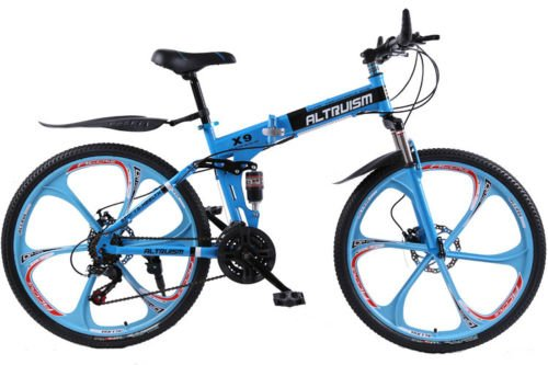 Hot-Sales-Altruism-Xirui-X9-26-Inch-24-Speed-Full-Suspension-Folding-Mountain-Bike-Blue-0