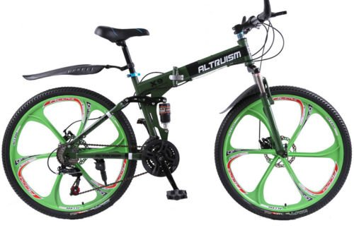 Hot-Sales-Altruism-Xirui-X9-26-Inch-24-Speed-Full-Suspension-Folding-Mountain-Bike-Green-0