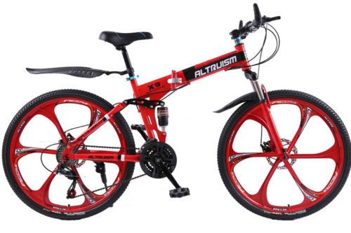 Hot-Sales-Altruism-Xirui-X9-26-Inch-24-Speed-Full-Suspension-Folding-Mountain-Bike-Red-0