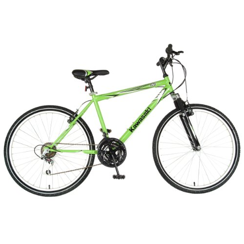 Kawasaki-K26-Hardtail-Mountain-Bike-26-inch-Wheels-18-inch-Frame-Mens-Bike-Green-0