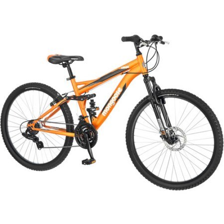 Mountain-Bike-for-Men-of-Mongoose-with-22-Ledge-26-Wheels-Full-Suspension-Frame-Linear-Pull-Brakes-and-Padded-Seat-Orange-Perfect-for-Outdoor-RideTravel-0