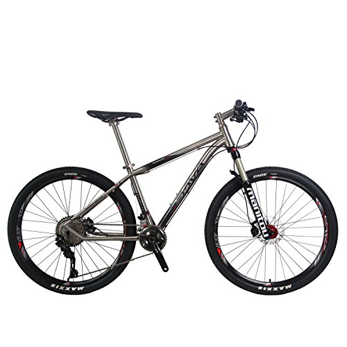 SAVADECK-Titanium-Alloy-275-Mountain-Bike-Complete-Pro-Hard-Tail-MTB-Bicycle-22-Speed-SHIMANO-8000-with-Manituo-Air-Suspension-ForkMaxxis-Tire-and-Fizik-Saddle-0