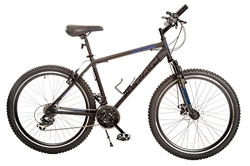 TITAN-Dark-Knight-Aluminum-Suspension-Mens-Mountain-Bike-with-Disc-Brake-Matte-Black-21-Speed-0
