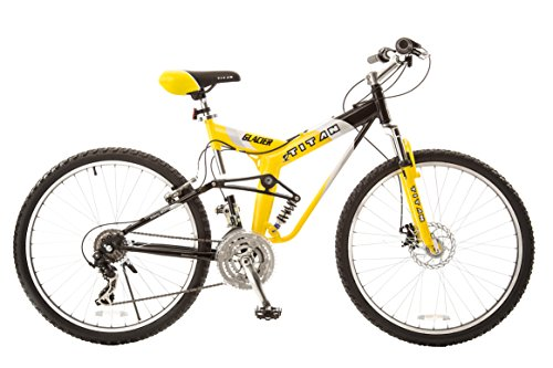 Titan-135-Glacier-PRO-Alloy-Dual-Suspension-All-Terrain-21-Speed-19-Inch-Frame-Mountain-Bike-YellowBlack-Large-0