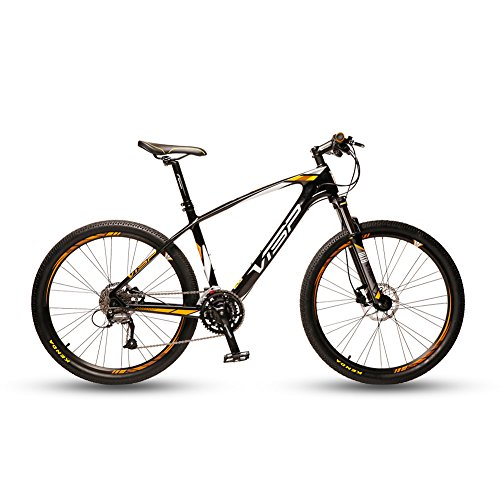 VTSP-50-Yellow-Carbon-Fiber-Frame-Mans-Mountain-Bike-17-X-275-Inch-Microshift-XCD-30-Speeds-Vs-Air-Lock-Out-Fork-Mineral-Oil-Hydraulic-Brakes-0
