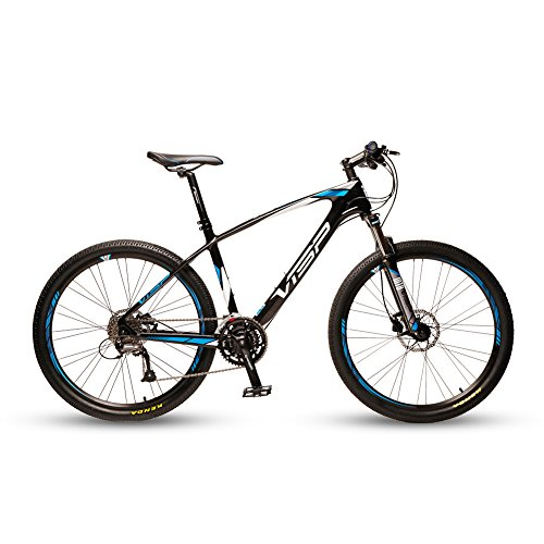 VTSP-Blue-50-Carbon-Fiber-Frame-Mans-Mountain-Bike-17-X-275-Inch-Shimano-Deore-610-30-Speeds-Vs-Air-Lock-Out-Fork-M335-Mineral-Oil-Hydraulic-Brakes-0
