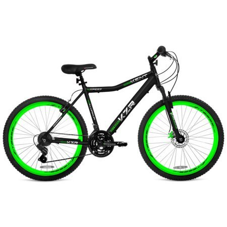 26-Mens-Kent-KZR-Mountain-Bike-BlackGreenHigh-profile-aluminum-wheels-0