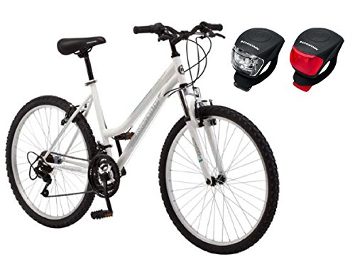 26-Roadmaster-Granite-Peak-Womens-Bike-White-with-Schwinn-LED-Snake-Light-0