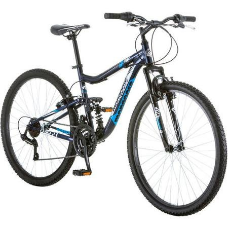 275-Mongoose-Ledge-21-Mens-Bike-for-a-Path-Trail-Mountains-Deep-Navy-Aluminum-Full-Suspension-Frame-Twist-Shifters-Through-21-Speeds-0