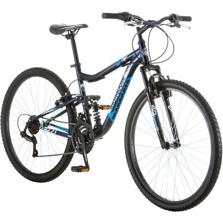 275-Mongoose-R4054WMC-Ledge-21-Mens-Bike-for-a-Path-Trail-MountainsNavy-Aluminum-Full-Suspension-Frame-Twist-Shifters-Through-21-Speeds-0
