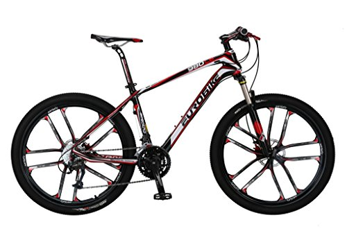 Cyrusher-EB980-Red-Carbon-Fiber-Frame-17-X-26-In-Mans-Mountain-Bike-Shimano-M370-27-Gears-Hydraulic-Disc-Brake-0