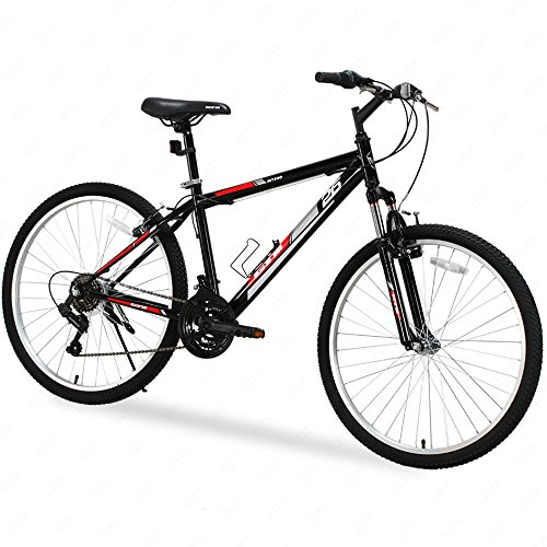 GTM-26-Inch-18-Speed-Shimano-Hybrid-Mountain-Bike-with-Water-Bottle-Holder-Black-Red-0