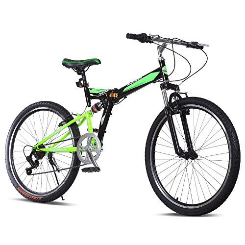 Gracelove-26inch-7-Speed-Mountain-Bike-with-Disc-Brakes-Full-Suspension-Mountain-Bike-Foldable-Bicycle-0