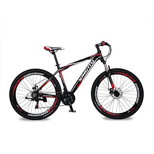 KINGTTU-GTR-Mountain-Bike-Offroad-Bicycle-MTB-Cycling-275-inch-Wheel-Aluminum-Frame-Shimano-21-Speed-Double-Disc-Brake-Suspension-Fork-Red-Black-0