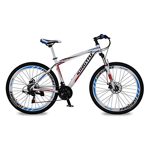 KINGTTU-GTR-Mountain-Bike-Offroad-Bicycle-MTB-Cycling-275-inch-Wheel-Aluminum-Frame-Shimano-21-Speed-Double-Disc-Brake-Suspension-Fork-White-Blue-0