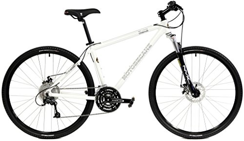 Motobecane-Front-Suspension-Hybrid-Adventure-29er-mountain-bike-27-speed-disc-Bike-white-19-frame-0