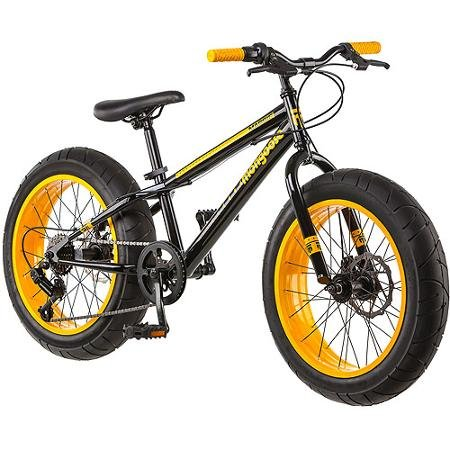 Mountain-Bike-Mongoose-20-Inch-All-Terrain-Fat-Tire-Sleek-Look-Aluminum-Steel-Frame-Front-Suspension-Smooth-Riding-Alloy-Wheels-Rear-Derailleur-7-Speed-Dual-Disc-Brake-Twist-Shifter-3-Piece-Crank-0