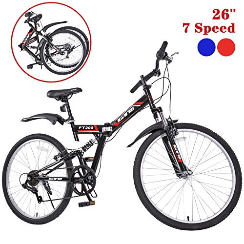 GTM-26-7-Speed-Folding-Mountain-Bike-Bicycle-Shimano-Hybrid-Suspension-MTB-0