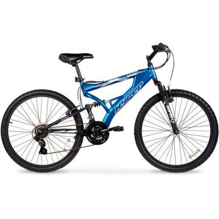 Hyper-Bicycles-26-Hyper-Havoc-Full-Suspension-Mens-Mountain-Bike-Full-Suspension-with-Fork-Blue-0