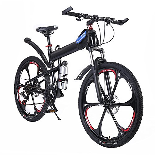 OPATER-MTB-Mountain-Bike-26-24-Speed-Sturdy-Carbon-Steel-Frame-Bike-For-Men-and-Women-Black-0