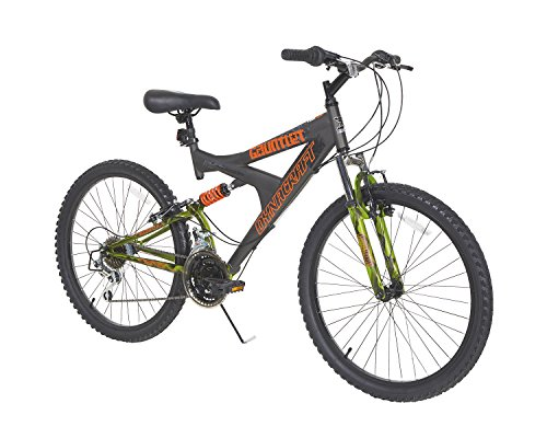 Dynacraft-Gauntlet-Boys-Dual-Suspension-21-Speed-Bike-Gray-24-Inch-0