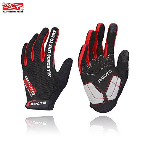 Arltb-3-Sizes-Bike-Gloves-3-Colors-Bicycle-Cycling-Biking-Gloves-Mitts-Full-Finger-Pad-Breathable-Lightweight-For-Bike-Riding-Mountain-Bike-Motorcycle-Free-Cycle-BMX-Lifting-Fitness-Climbing-0