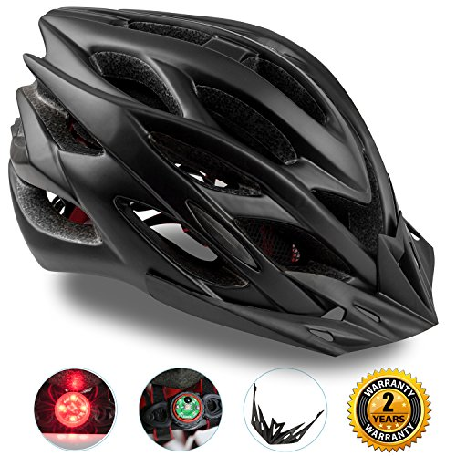 Basecamp-Specialized-Bike-Helmet-with-Safety-LightAdjustable-Sport-Cycling-Helmet-Bicycle-Helmets-for-Road-Mountain-BikingMotorcycle-for-Men-WomenYouth-Safety-Protection-Black01-0