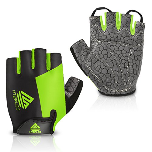 Cycling-Gloves-Mountain-Bike-Gloves-Bicycle-Riding-Gloves-Anti-slip-Shock-absorbing-Pad-Breathable-Half-Finger-Biking-Gloves-Outdoor-Sports-Gloves-MenWomen-BlackGreen-Small-0
