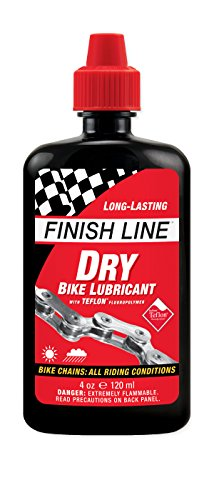 Finish-Line-DRY-Teflon-Bicycle-Chain-Lube-4-Ounce-Drip-Squeeze-Bottle-0