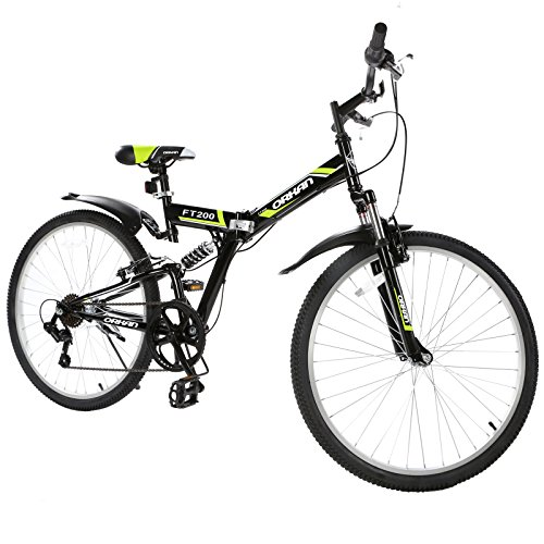 GTM-26-7-Speed-Folding-Mountain-Bike-Shimano-Hybrid-Suspension-MTB-Green-0