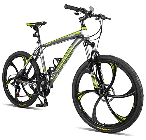 Merax-Finiss-26-Aluminum-21-Speed-Mg-Alloy-Wheel-Mountain-Bike-Clasic-GrayGreen-0
