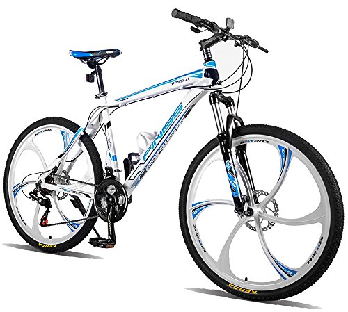 Merax-Finiss-26-Aluminum-21-Speed-Mg-Alloy-Wheel-Mountain-Bike-Fashion-WhiteBlue-0
