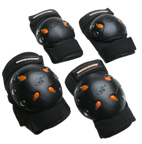 Mongoose-BMX-Bike-Gel-Knee-and-Elbow-Pad-Set-0