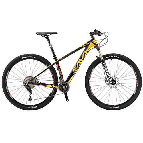 SAVADECK-700-Carbon-Fiber-Mountain-Bike-2627529-Complete-Hard-Tail-MTB-Bicycle-22-Speed-SHIMANO-8000-DEORE-XT-Manituo-M30-Suspension-Fork-Maxxis-Tire-0