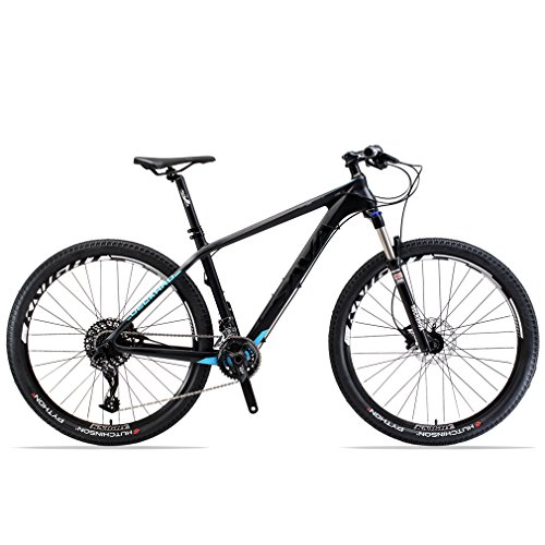 SAVADECK-DECK380-Mountain-Bike-275-T800-Carbon-Fiber-Frame-Complete-Hard-Tail-MTB-Cycle-Bicycle-with-SRAM-GX-2-x-11-Speed-Group-Set-0