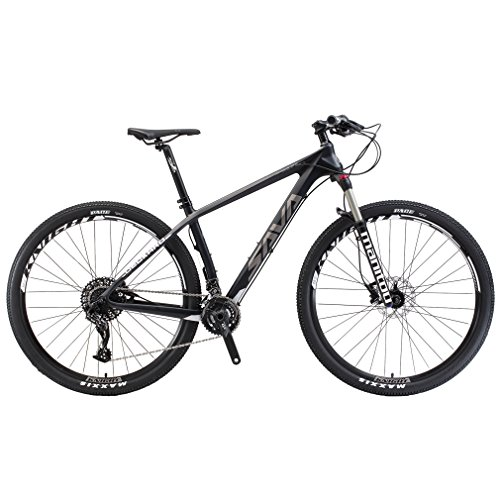 SAVADECK-DECK380-Mountain-Bike-29-T800-Carbon-Fiber-Frame-Complete-Hard-Tail-MTB-Cycle-Bicycle-with-SRAM-GX-2-x-11-Speed-Group-Set-0
