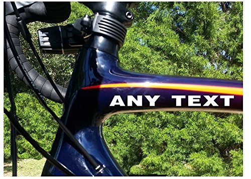 StickerLoaf-Brand-ANY-TEXT-Bicycle-Head-down-Tube-Frame-Fork-Decal-Sticker-Cycling-Cyclist-Cycle-Bike-Road-Trail-MTB-Mountain-Racing-Race-Century-Metric-trek-specialized-giant-cannondale-0