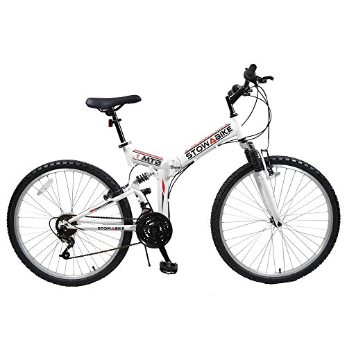Stowabike-26-MTB-V2-Folding-Dual-Suspension-18-Speed-Shimano-Gears-Mountain-Bike-White-0