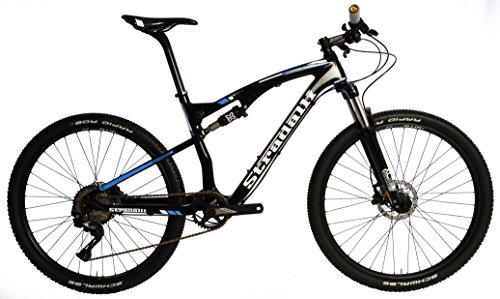Stradalli-Two-7-Blue-Edition-Full-Carbon-Fiber-Dual-Suspension-Cross-Country-CX-Mountain-Bike-275-MTB-650b-Shimano-XT-M8000-1x11-Suntour-XCM-30-Fork-WTB-SX19-650b-Wheelset-0
