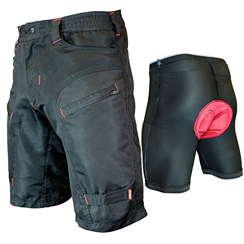 THE-SINGLE-TRACKER-Mountain-Bike-Cargo-Shorts-with-secure-pockets-baggy-fit-and-dry-fast-wicking-from-Urban-Cycling-Apparel-X-Large-WITH-Premium-Antibacterial-G-Tex-Padded-Undershorts-0