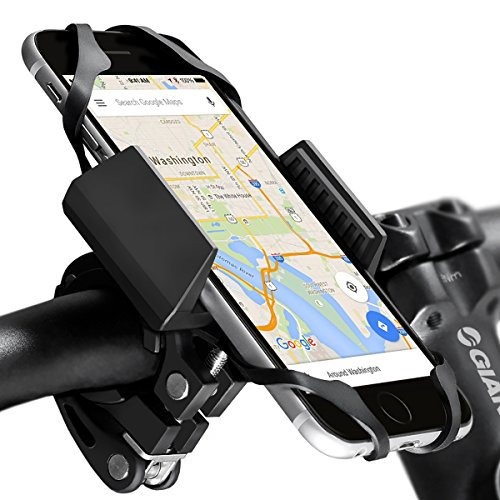 Widras-Bike-and-Motorcycle-Cell-Phone-Holder-2nd-Generation-Bicycle-Mount-For-iPhone-7-6s-5s-Plus-Samsung-Galaxy-S5-S6-S7-S8-Note-or-any-Smartphone-GPS-Mountain-Road-Bicycle-Handlebar-Cradle-0