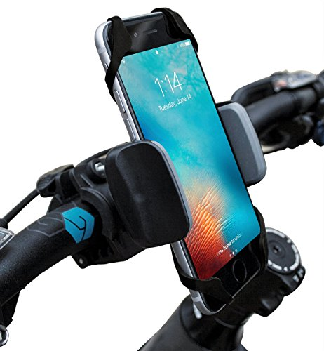 Widras-Bike-and-Motorcycle-Cell-Phone-Holder-Bicycle-Mount-For-iPhone-7-6s-5s-Plus-Samsung-Galaxy-S5-S6-S7-Note-or-any-Smartphone-GPS-Mountain-Road-Bicycle-Handlebar-Cradle-Pokemon-Go-0