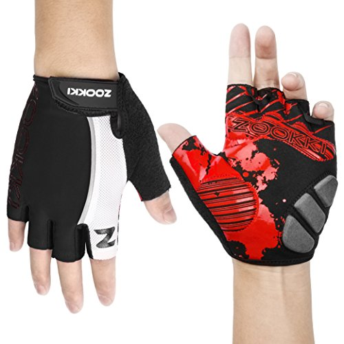 Zookki-Cycling-Gloves-Mountain-Bike-Gloves-Road-Racing-Bicycle-Gloves-Light-Silicone-Gel-Pad-Riding-Gloves-Half-Finger-Biking-Gloves-MenWomen-Work-Gloves-0-1